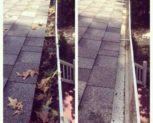 columbus gutter cleaning before : after